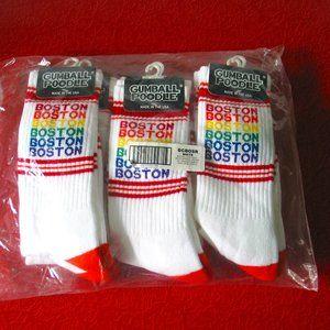 6 pairs Gumball Poodle Boston Rainbow Socks NWT